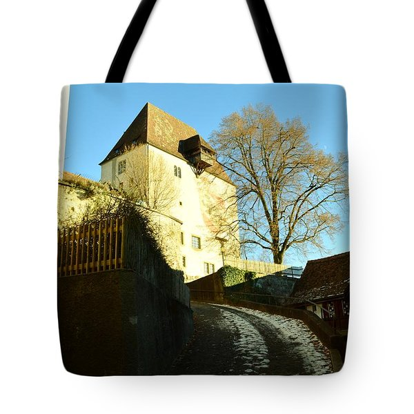 Tote Bag featuring the photograph Burgdorf Castle In December by Felicia Tica