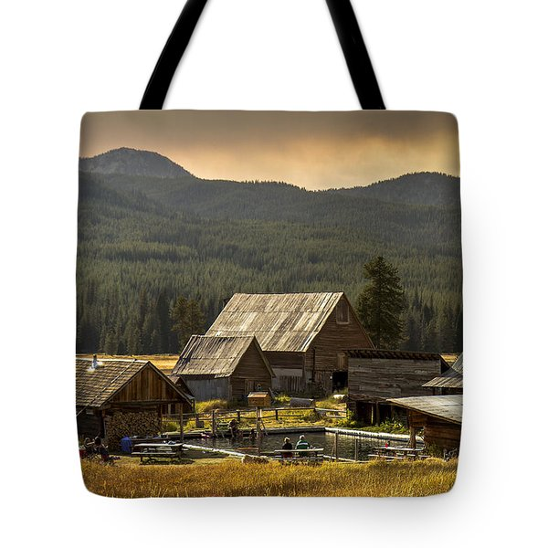 Burgdorf Hot Springs In Idaho Tote Bag