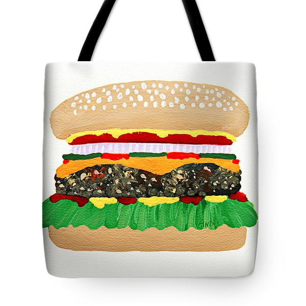 Burger Me Tote Bag by Andee Design