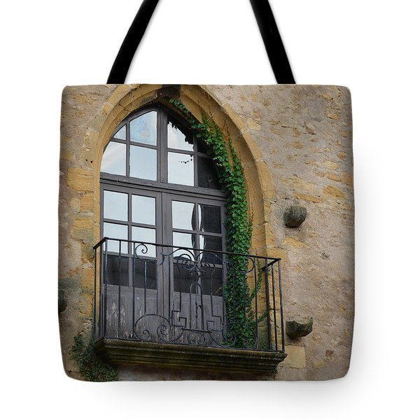 Burgundy Window Tote Bag