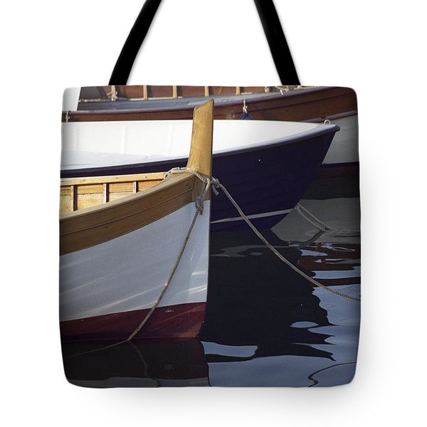 Tote Bag featuring the photograph Burgundy Boat by Susie Rieple