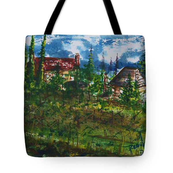 Burgundy In The Morning  Tote Bag