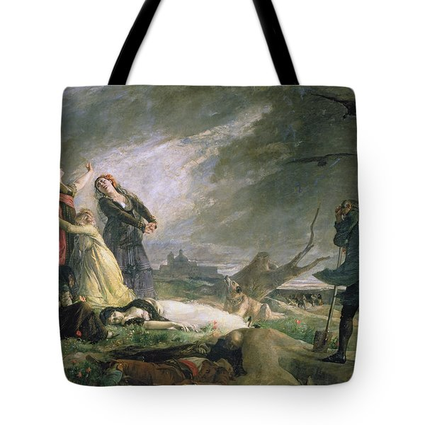 Burial At La Moncloa In May 1808 Oil On Canvas Tote Bag