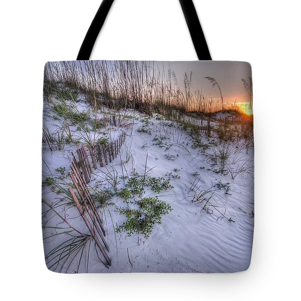 Tote Bag featuring the digital art Buried Fences by Michael Thomas