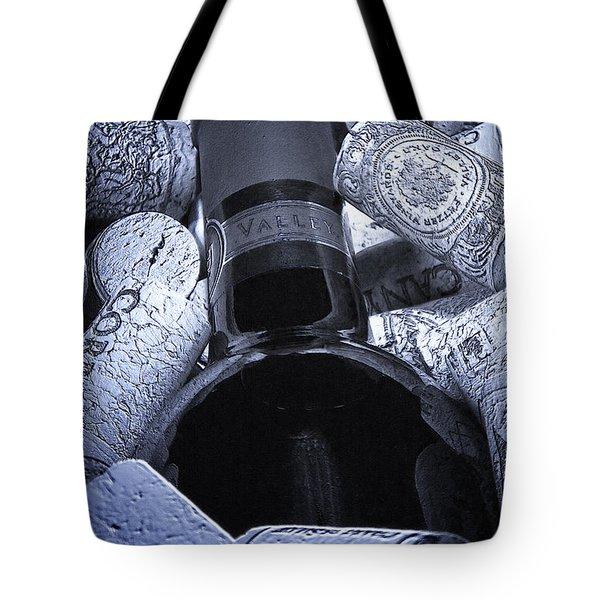 Buried Wine Bottle Tote Bag