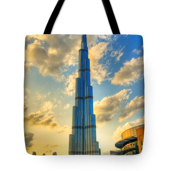 Burj Khalifa Tote Bag by Syed Aqueel