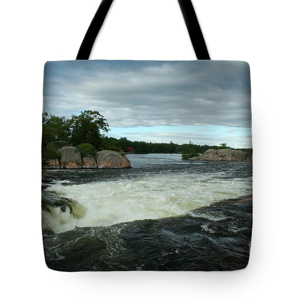 Tote Bag featuring the photograph Burleigh Falls by Barbara McMahon