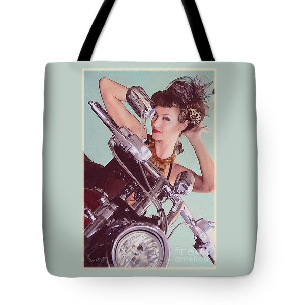 Burlesque Biker -portrait Tote Bag