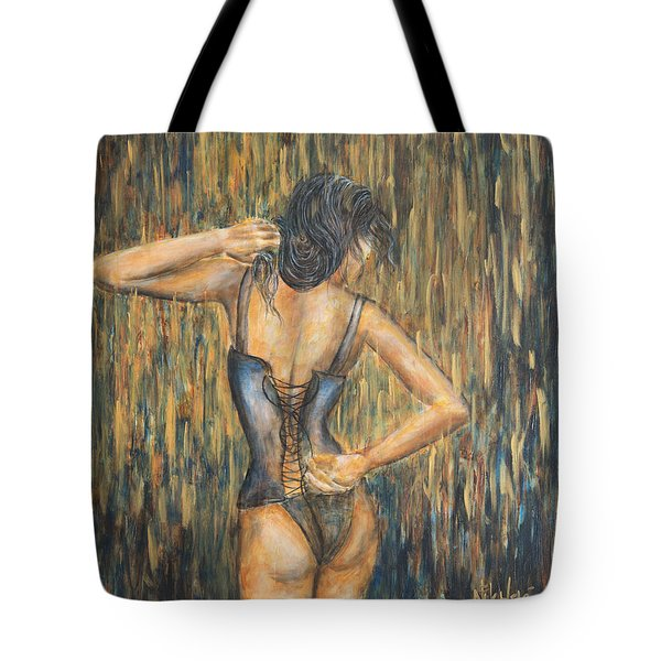 Tote Bag featuring the painting Burlesque II by Nik Helbig