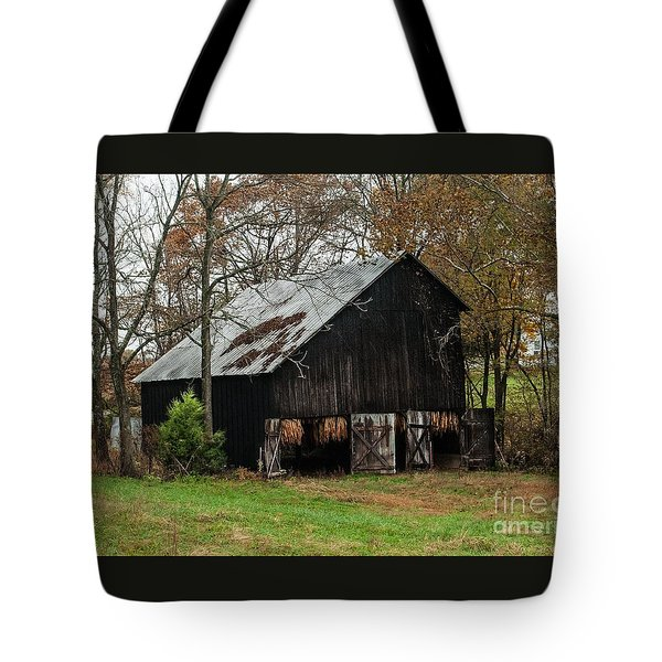 Tote Bag featuring the photograph Burley Tobacco  Barn by Debbie Green
