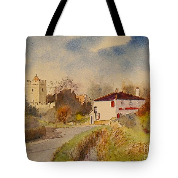 Tote Bag featuring the painting Burmarsh  Kent Uk by Beatrice Cloake