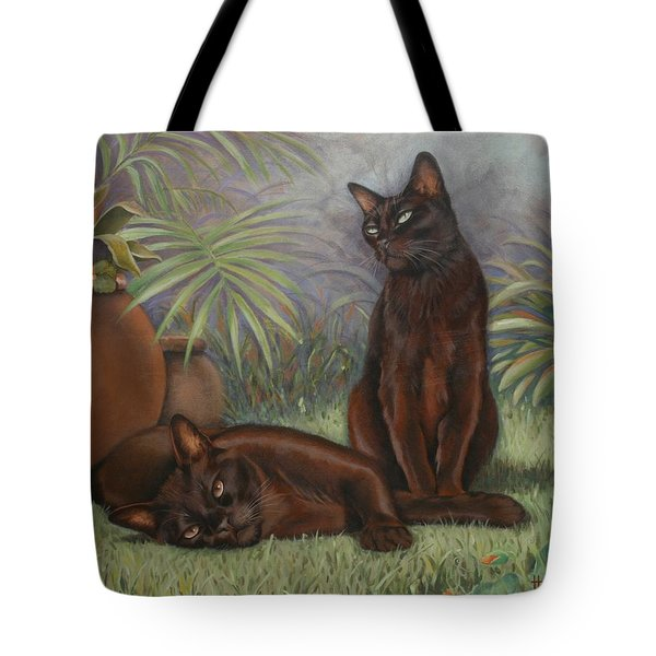 Tote Bag featuring the painting Burmese Beauty by Cynthia House