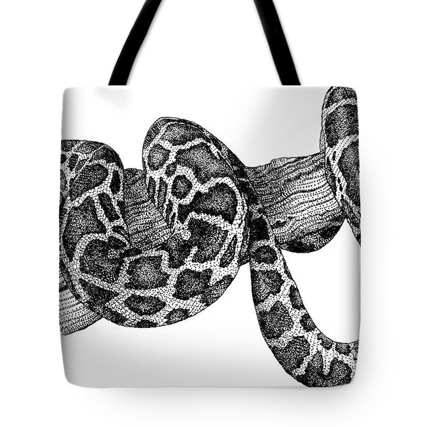 Burmese Python Tote Bag by Roger Hall