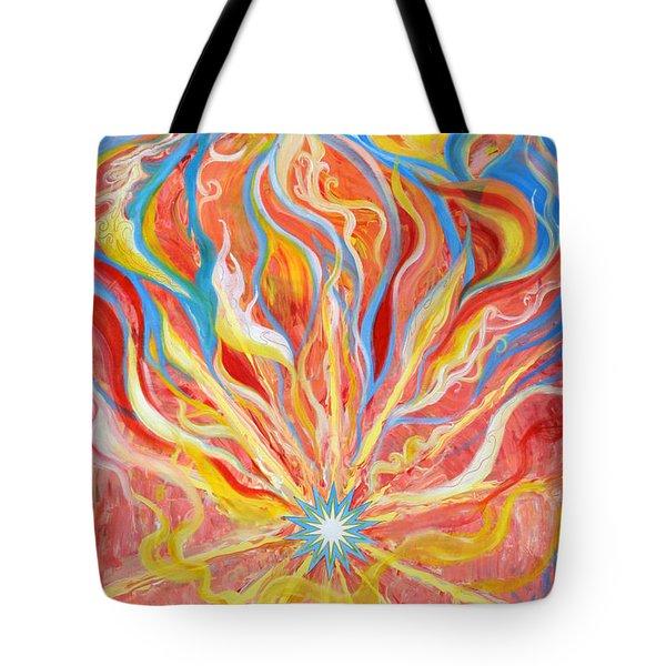 Burning Bush Tote Bag by Anne Cameron Cutri