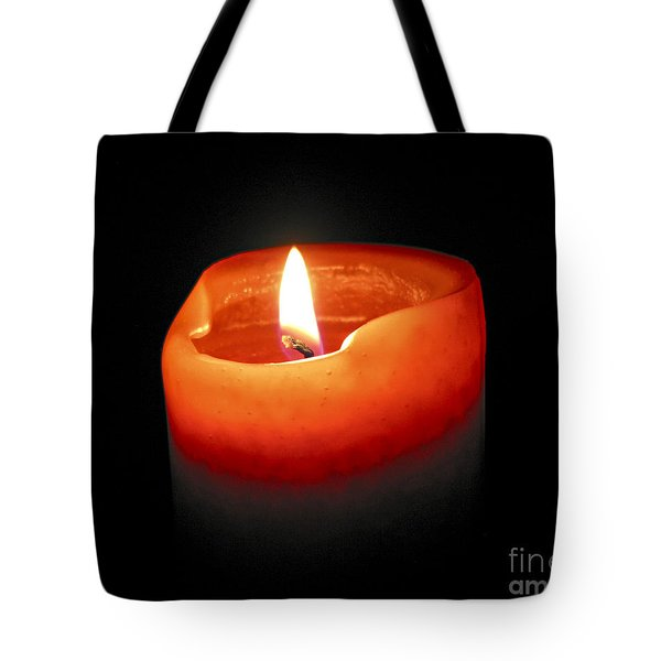Burning Candle Tote Bag by Elena Elisseeva