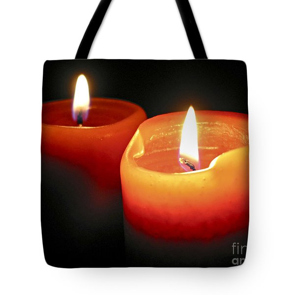 Burning Candles Tote Bag by Elena Elisseeva