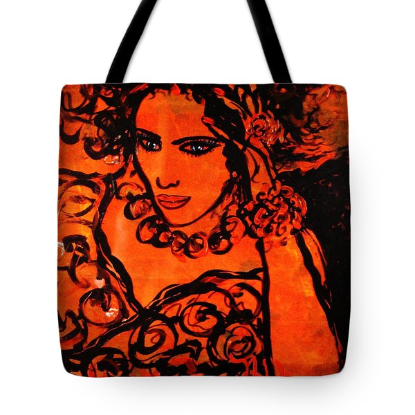 Burning Desire Tote Bag by Natalie Holland