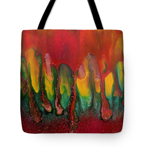 Burning Sensation Abstract Tote Bag