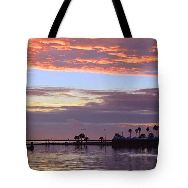Burning Sky Tote Bag by Leticia Latocki