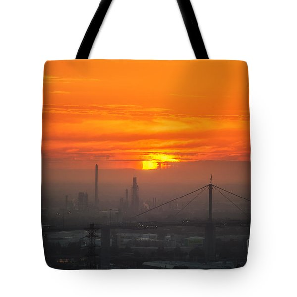 Tote Bag featuring the photograph Burning Sunset II by Ray Warren