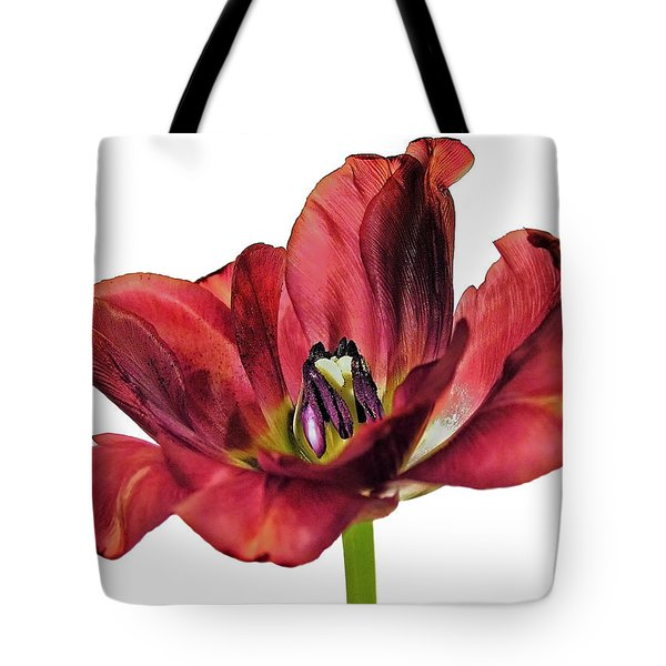Burning Tulip Tote Bag