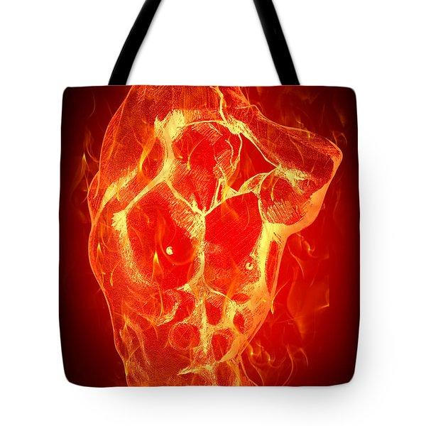 Burning Up  Tote Bag