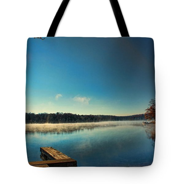 Burning Water Tote Bag