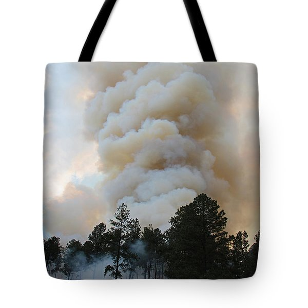 Burnout Near Song Dog Road Tote Bag