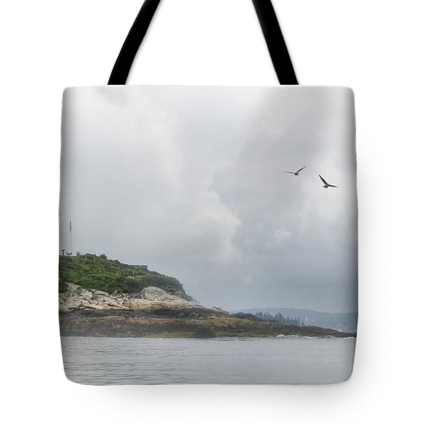 Burnt Island Light Tote Bag by Lori Deiter