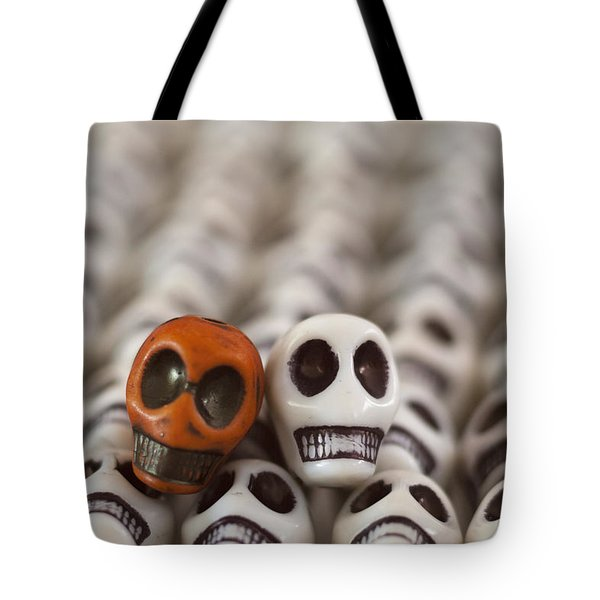 Burnt Orange And White Tote Bag by Mike Herdering