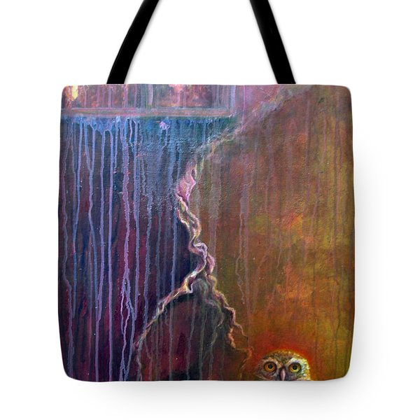 Tote Bag featuring the painting Burrow by Ashley Kujan
