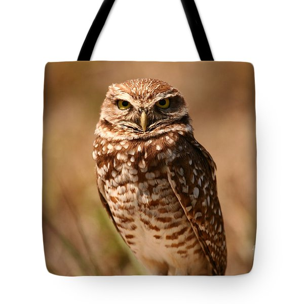 Burrowing Owl Impressions Tote Bag