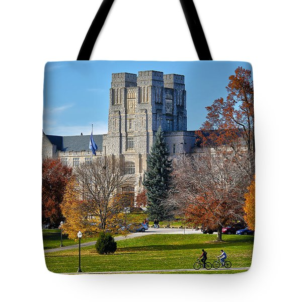 Burruss Hall Tote Bag by Mitch Cat