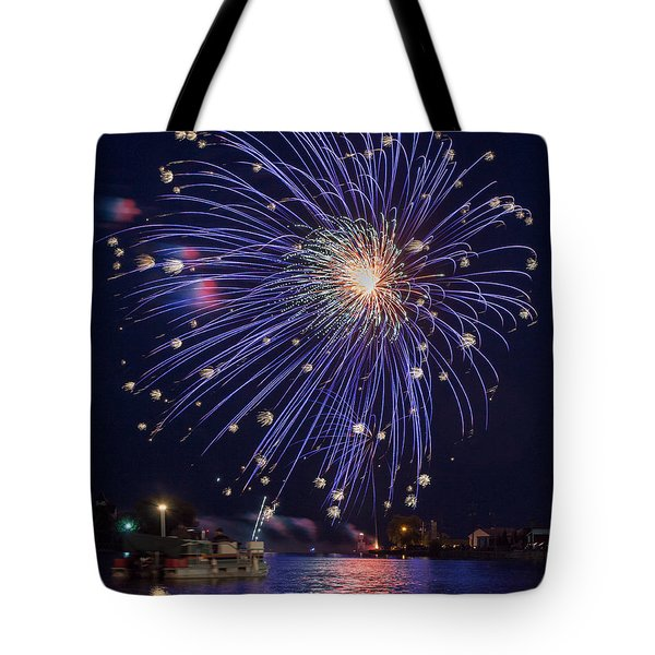 Burst Of Blue Tote Bag by Bill Pevlor
