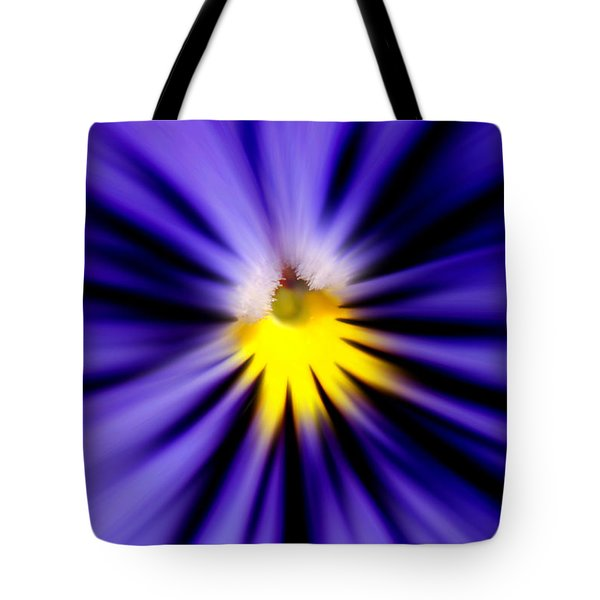 Bursting With Blue Pansy Tote Bag