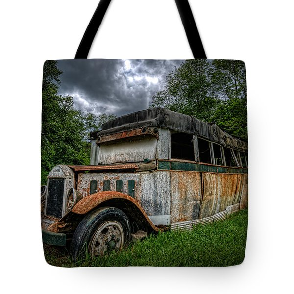Bus Decay 16 By 9  Tote Bag