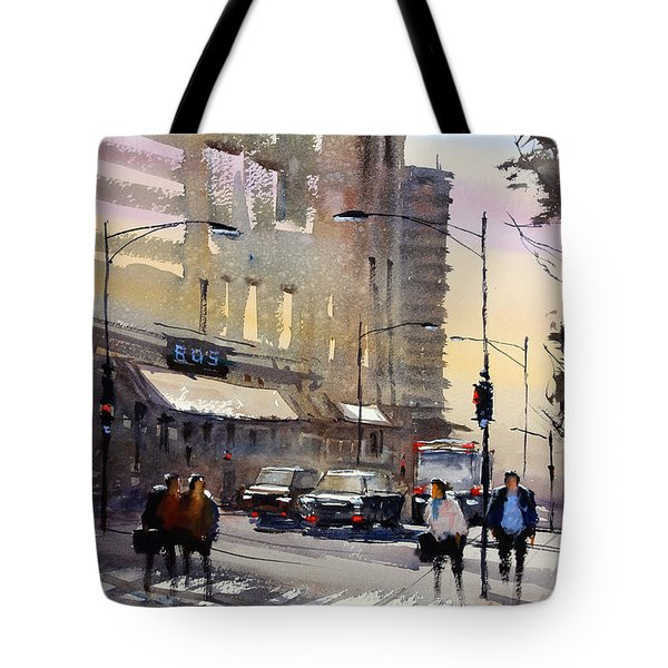 Bus Stop - Chicago Tote Bag