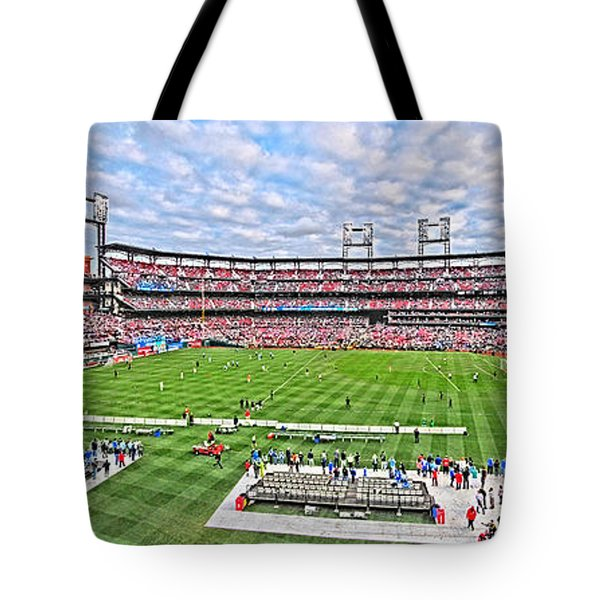 Busch Hosts Chelsea Versus Manchester City Tote Bag