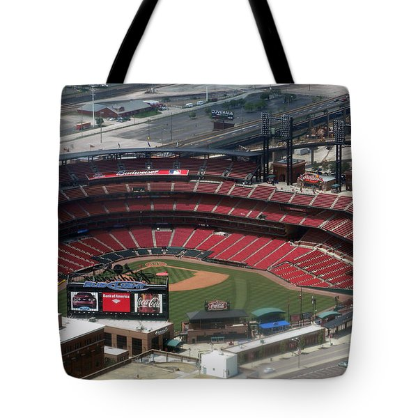 Busch Memorial Stadium Tote Bag by Thomas Woolworth