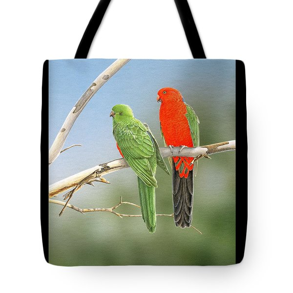 Bush Monarchs - King Parrots Tote Bag