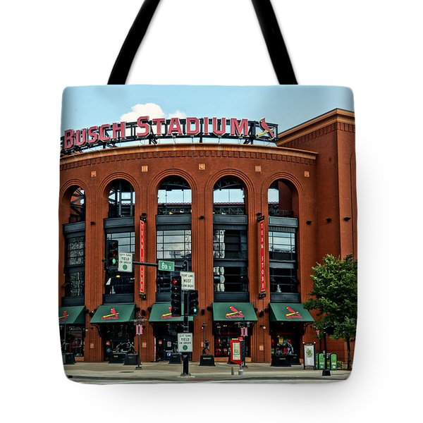 Busch Stadium Home Of The St Louis Cardinals Tote Bag