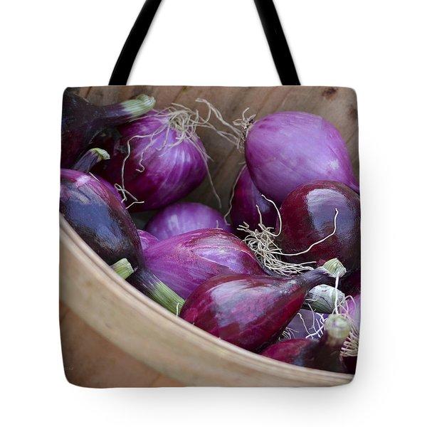 Bushel Of Red Onions Farmers Market Tote Bag
