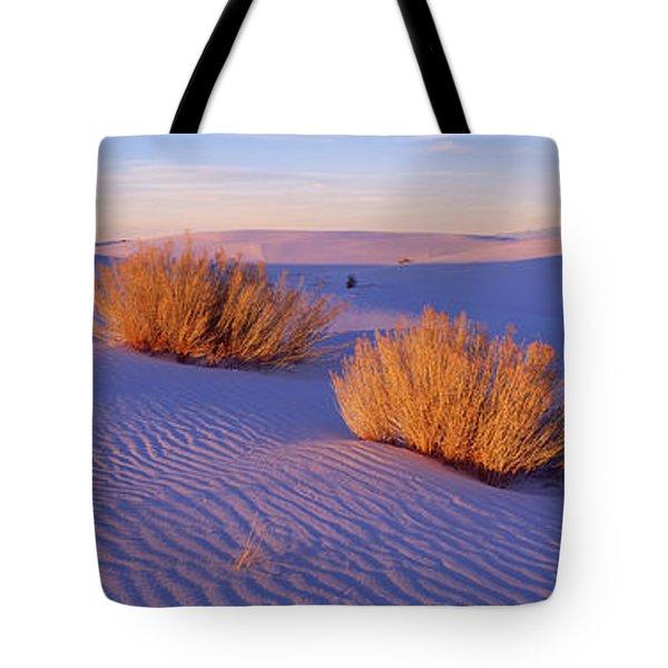 Bushes At White Sands National Tote Bag