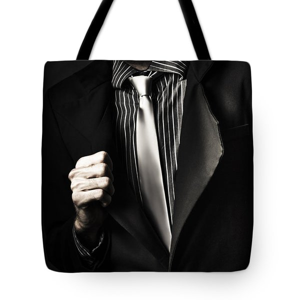 Business Spy In Opulent Modern Suit Tote Bag