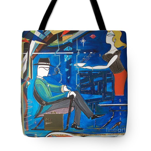 Businessman Sitting In Chair Tote Bag