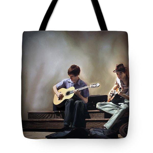 Buskers Tote Bag by Pennie  McCracken