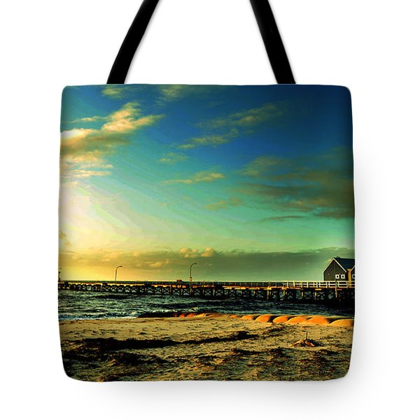 Tote Bag featuring the photograph Busselton Jetty by Yew Kwang