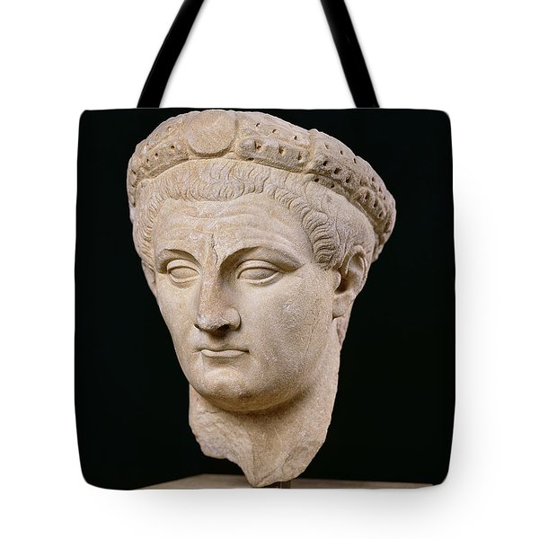 Bust Of Emperor Claudius Tote Bag by Anonymous