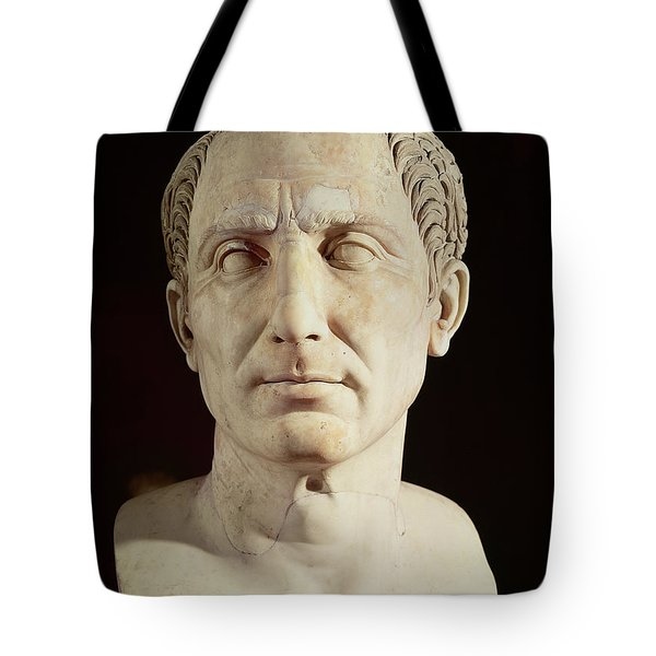 Bust Of Julius Caesar Tote Bag by Anonymous