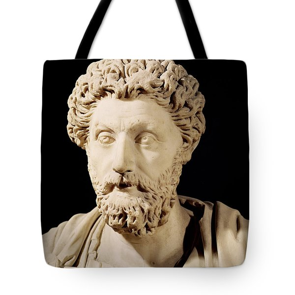 Bust Of Marcus Aurelius Tote Bag by Anonymous